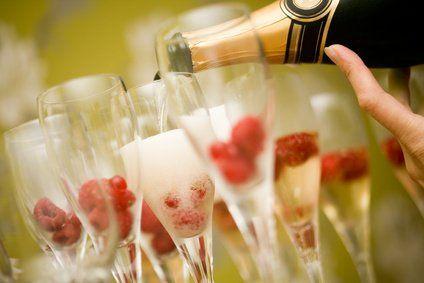 Wine with raspberry