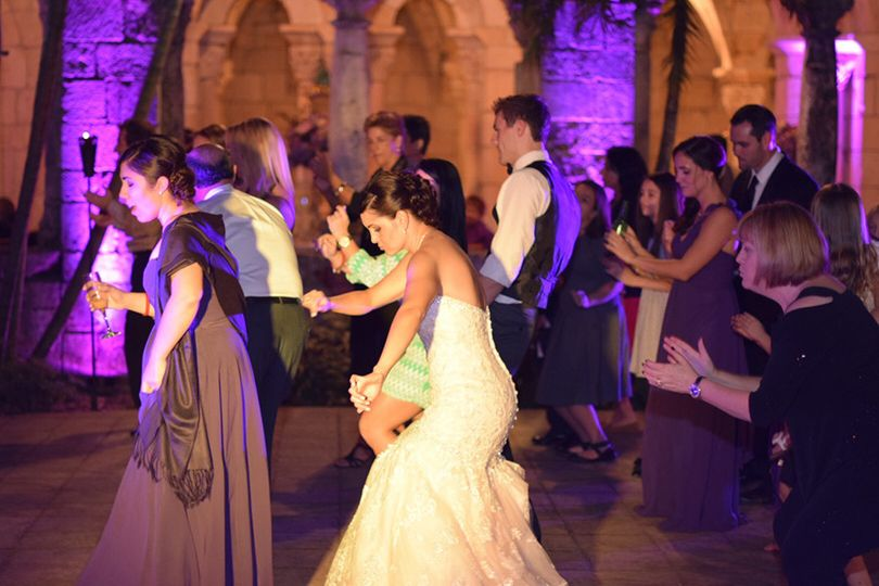 Dj & lighting by sound event djs. Wedding at the spanish monastery. Everyone had such an amazing...