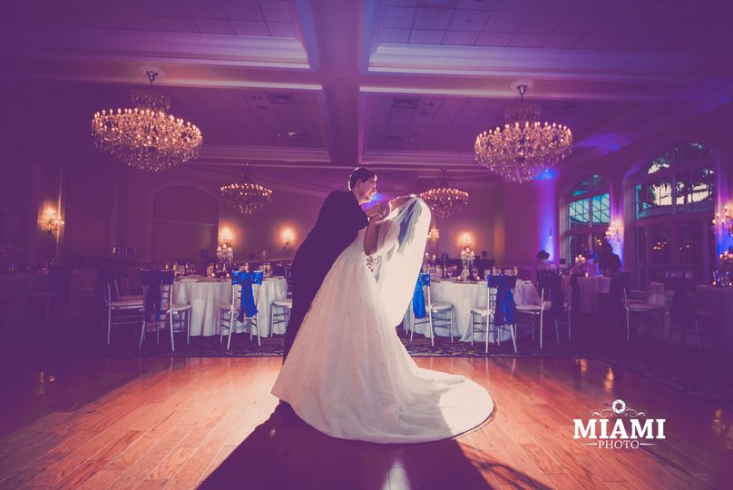 Bride & groom's first dance as mr & mrs.
