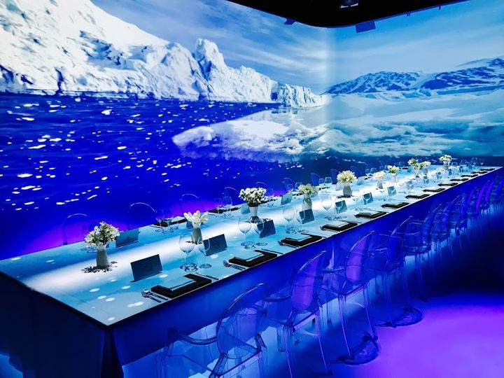 Arctic-inspired table