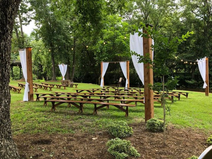 Farmhouse Lawn Ceremony