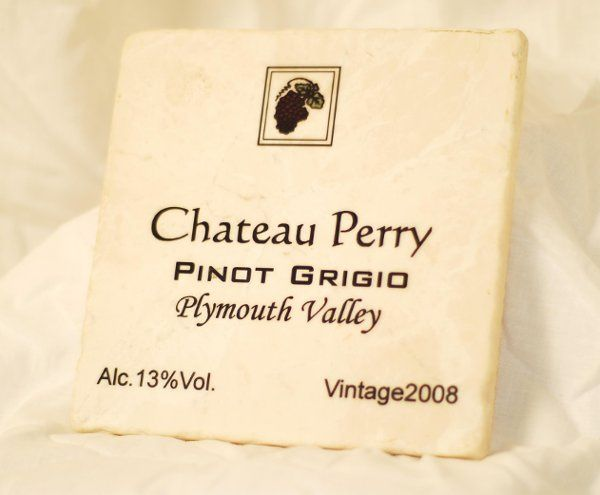 "Change the name ""Perry"" on this beautiful marble trivet and place your best man's surname.  Change..."