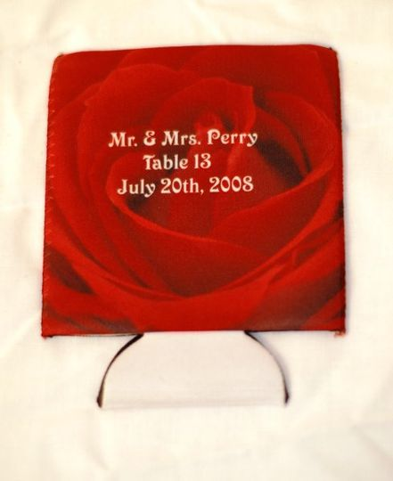 Combine your party favor with your place card on this cool beverage insulator!  At Images Everything...