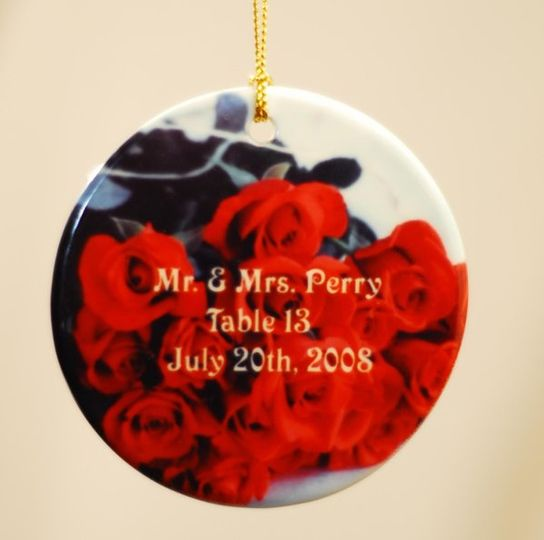 Getting married during the holidays?  How about customizing some ornaments that can also be...