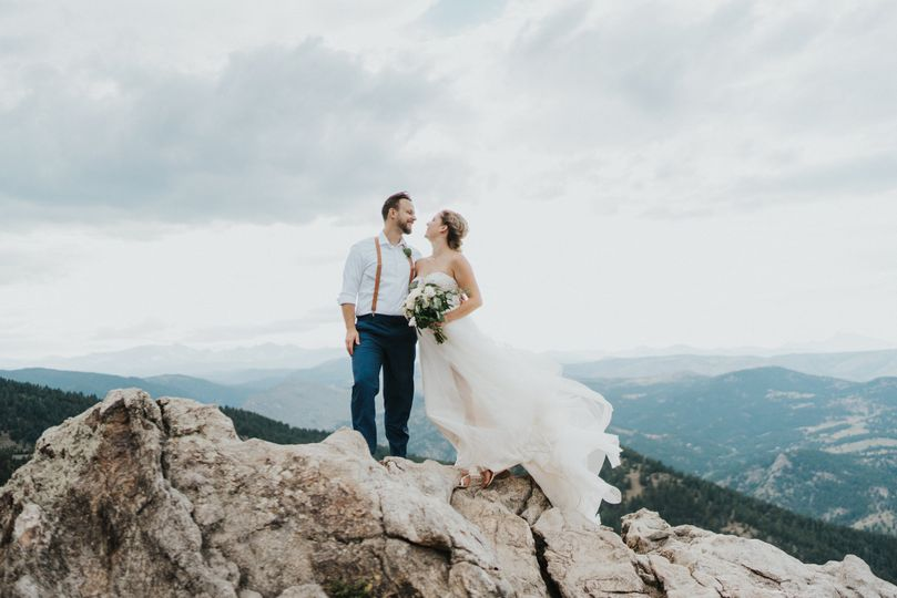 Windswept wedding dress