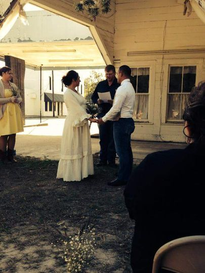 Officiant and dj
