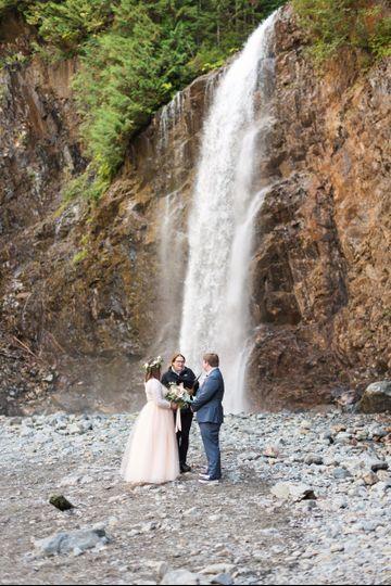 Wedding at falls