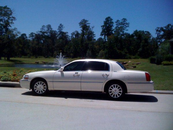 Simple Get-a-way..Use a Pearl White Lincoln Towncar!