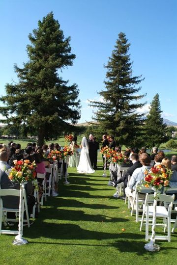Outdoor wedding ceremony site