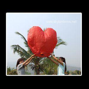 Tmx 1348442705174 Heartskylanternsredlaunchpaperballoonsflyingchinese Miami wedding eventproduction