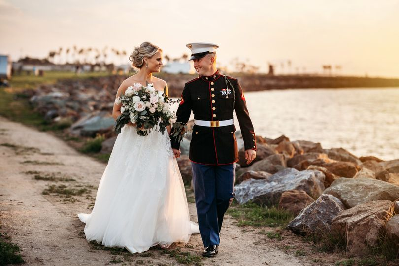 Mission Beach military wedding