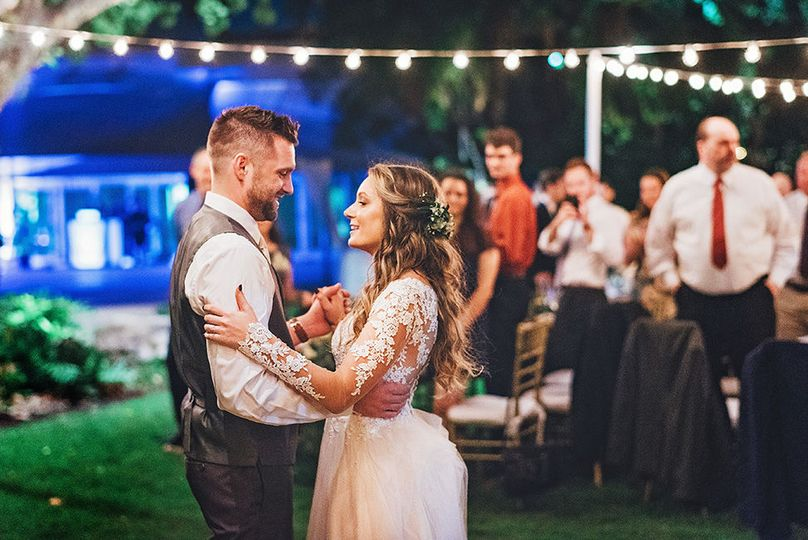 A couple's first dance
