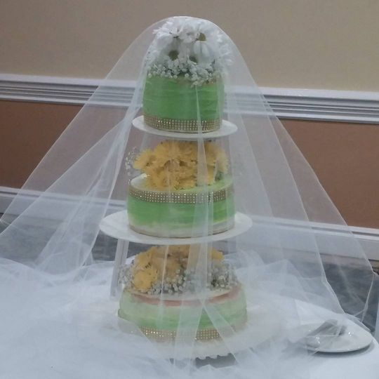 Cake with veil