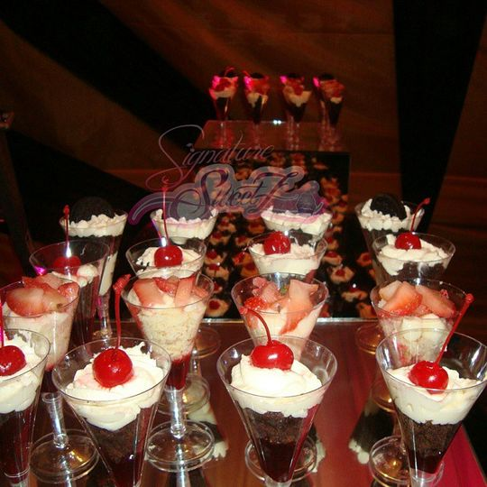 Strawberry and cream trifles
