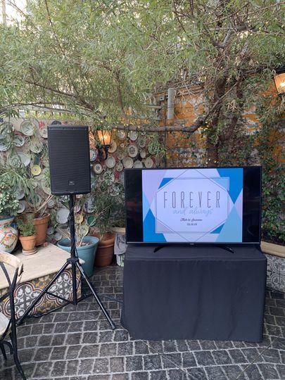 Wedding sound setup