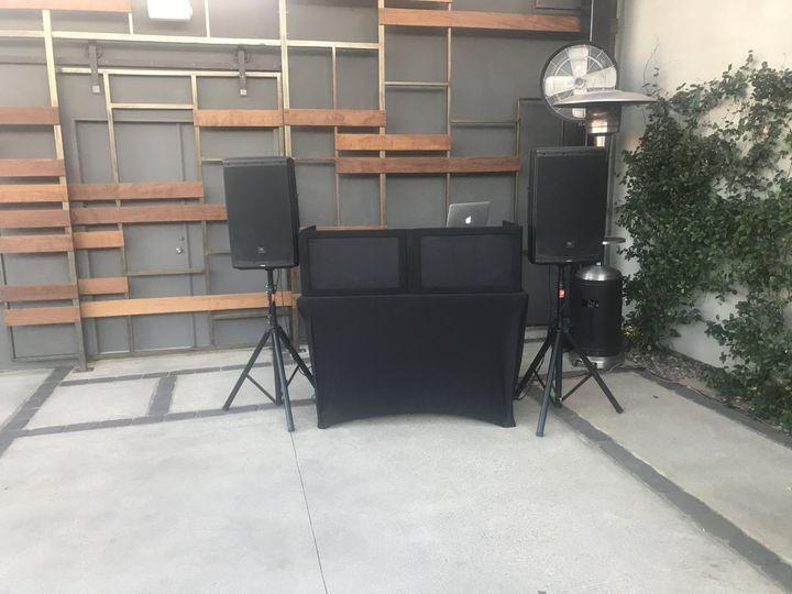 Wedding entertainment setup