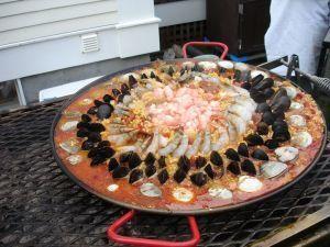 Traditional Spanish paella
