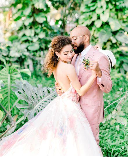 Styled boho wedding