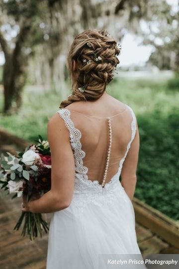 Romantic braided wedding hair