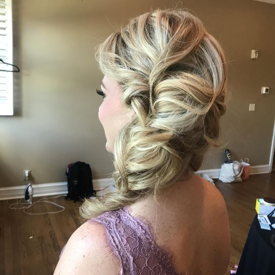 Glam bridesmaid hair