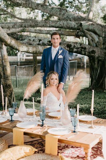 Backyard wedding style