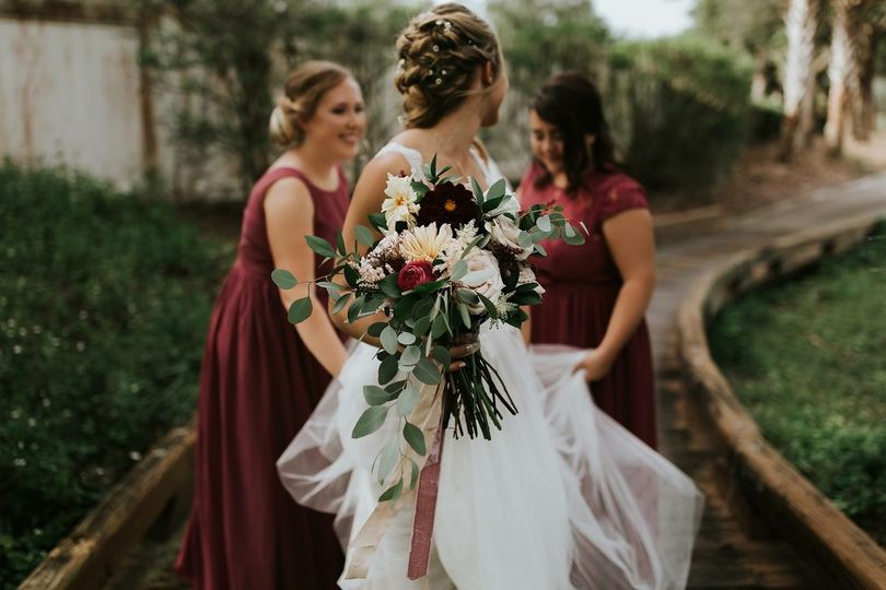 The perfect hair and bouquet