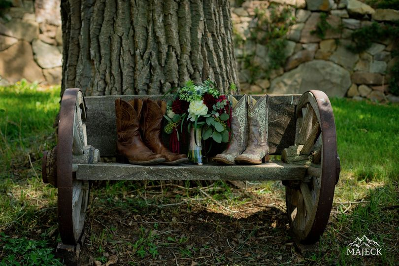 Bouquets and boots