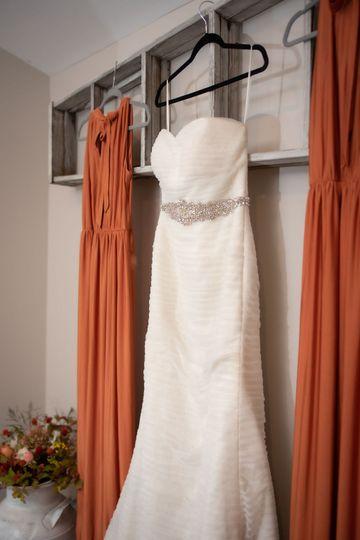 Rustic details in Bridal Suite
