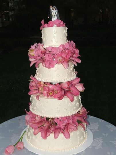 4 tier pink flowers Supreme pilot 4