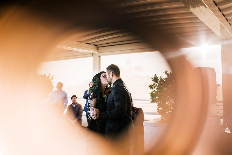Alternative Rooftop Wedding