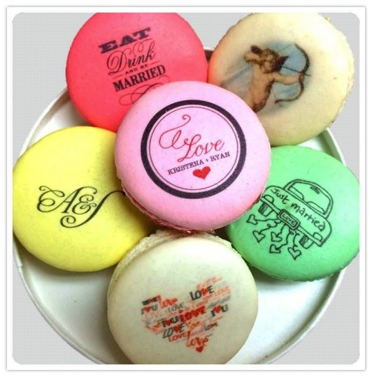 Personalized macarons.