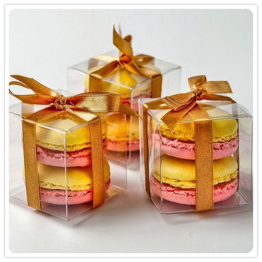 2 Macaron Favor Boxes