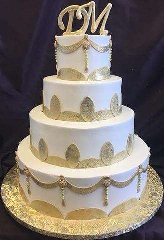 Tmx 1490393692308 Goldlarge Braintree, Massachusetts wedding cake