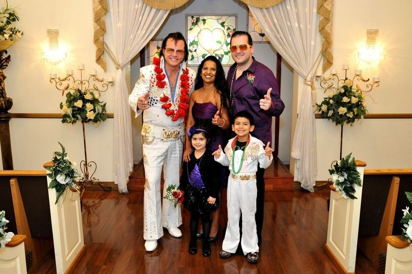 Elvis themed wedding