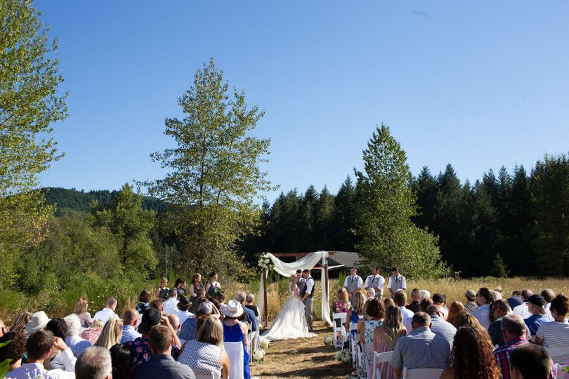 Ceremony in upper lawn