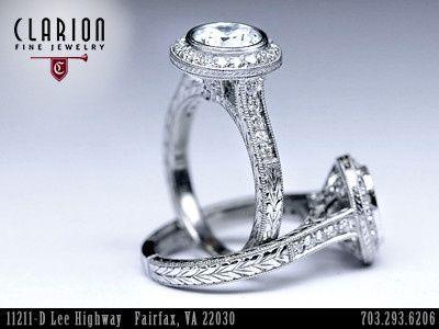 Custom Handmade Engagement Rings at Clarion Fine Jewelry.   PHONE: 1-703-293-6206...