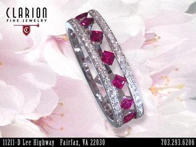 Tmx 1398929186686 Customrubyringcherryblossom Fairfax wedding jewelry