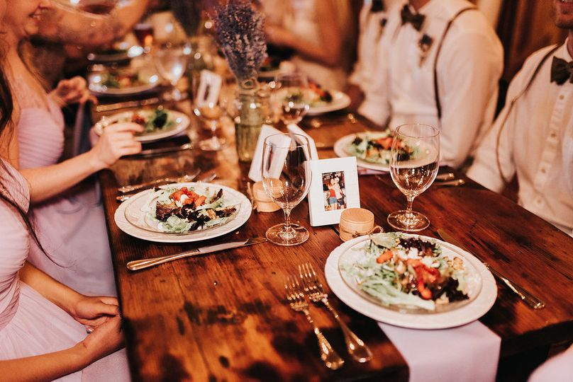 There are three preferred caterers that are included and place settings are also included plus...