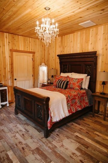 There are five bedrooms that are 12 X 20 in this amazing dairy barn that was transformed into a...