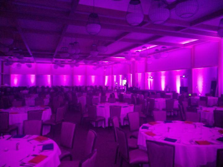 Full ballroom uplighting