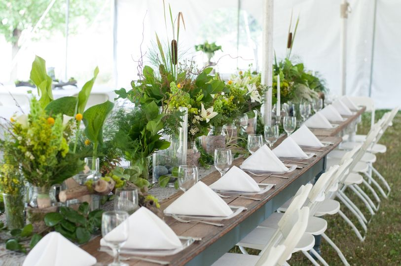 Table decor and florals