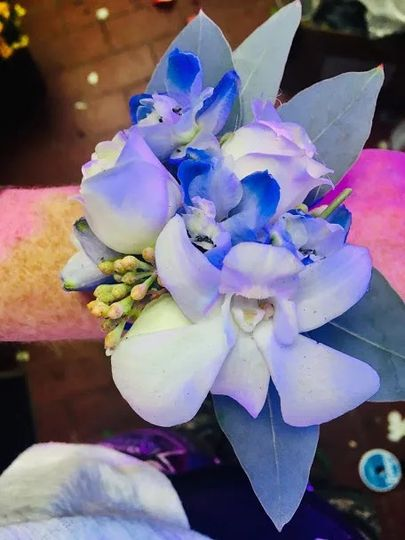 Distinctive orchid corsages