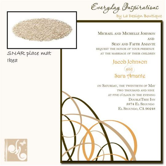 Swirly Geometric Wedding Invitations inspired by Everyday items... Send us an image or product, and...