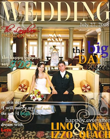 Magazine Style Design Cover to be used for Programs, Save the Dates, Front Entrance Frame, Wedding...