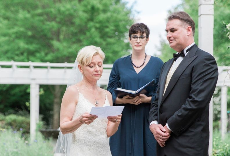 Reading her vows