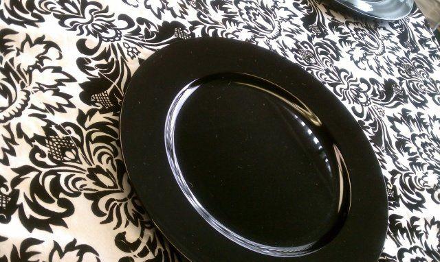 Black-and-white tablescape