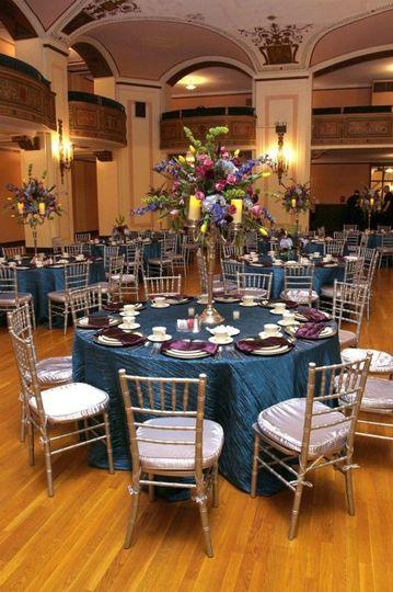 Blue table linens
