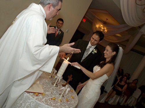 wedding at a banquet hall