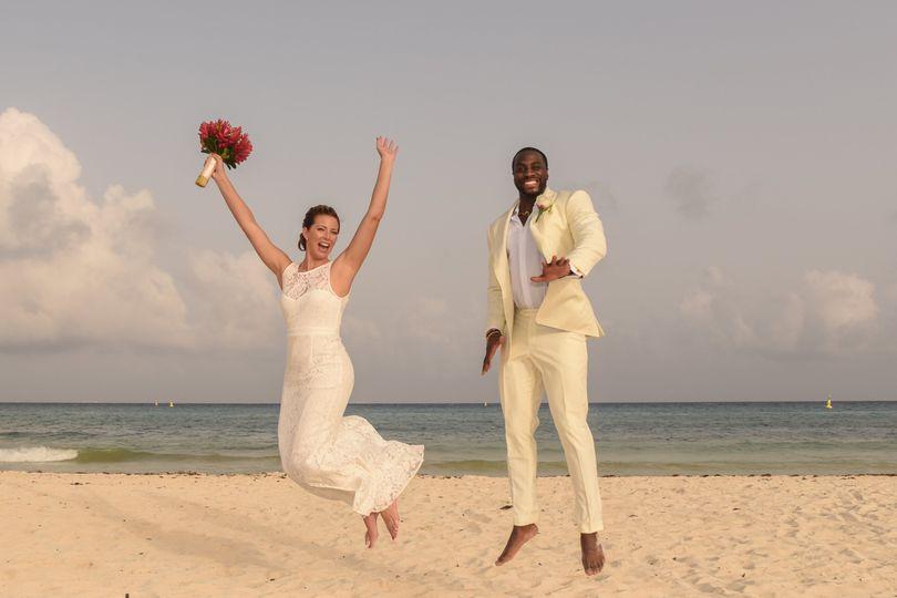 Wed on the beach