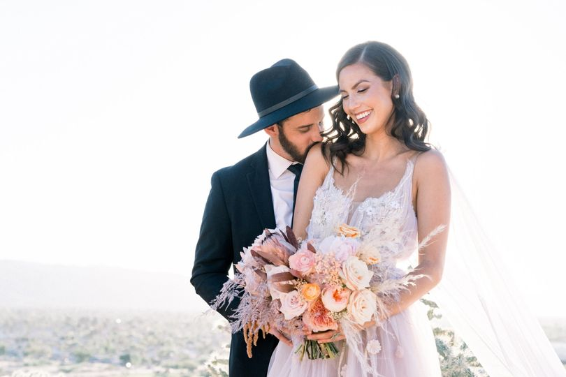 Gorgeous bride and groom in AZ